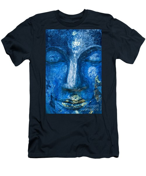 Men's T-Shirt (Slim Fit) featuring the photograph Blue Buddha  by Luciano Mortula