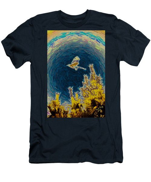 Bluejay Gone Wild Men's T-Shirt (Slim Fit) by Trish Tritz