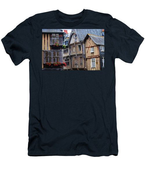 Men's T-Shirt (Slim Fit) featuring the photograph Brittany Buildings by Dave Mills