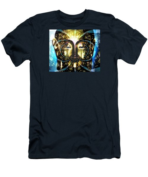 Buddha Blue Mandala Men's T-Shirt (Athletic Fit)