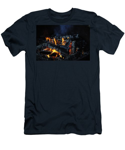 Men's T-Shirt (Slim Fit) featuring the photograph Campfire by Fran Riley