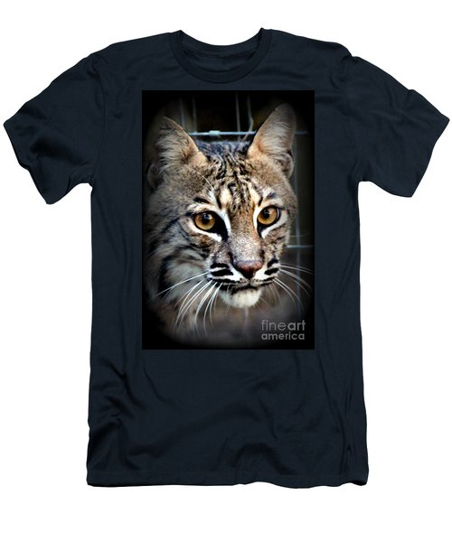 Men's T-Shirt (Slim Fit) featuring the photograph Cat Fever by Kathy  White