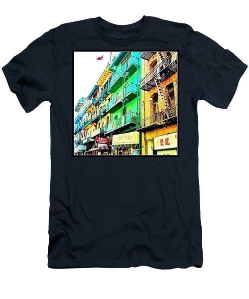 Chinatown View From The Streetcar - San Francisco Ca Men's T-Shirt (Athletic Fit)