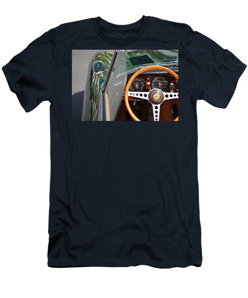 Classic Green Jaguar Artwork Men's T-Shirt (Athletic Fit)