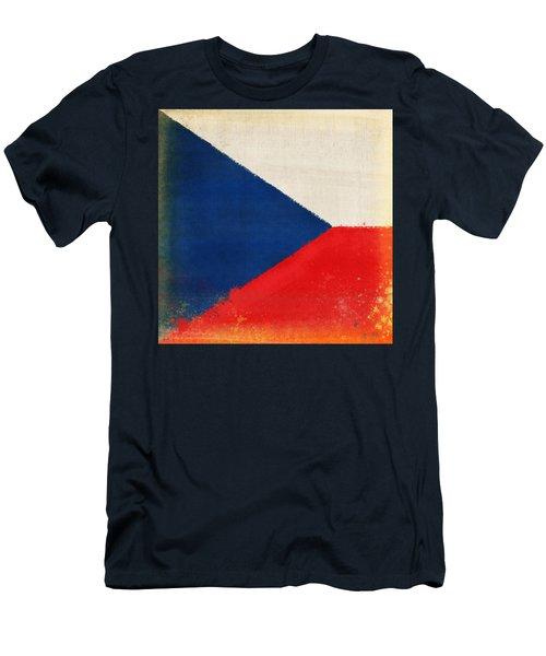 Czech Republic Flag Men's T-Shirt (Athletic Fit)