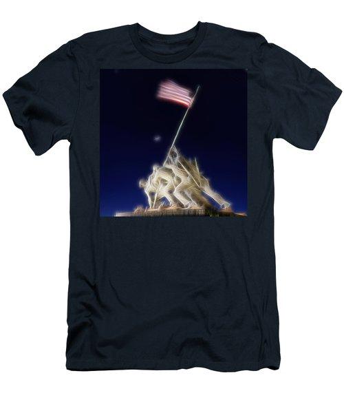 Digital Lightening - Iwo Jima Memorial Men's T-Shirt (Athletic Fit)