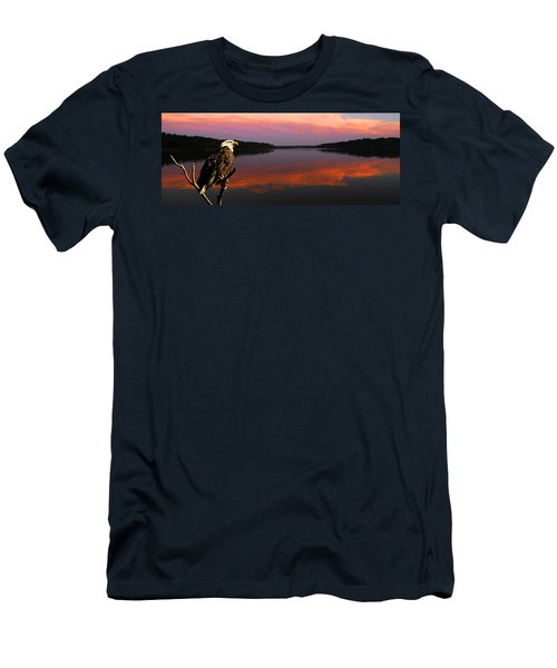 Men's T-Shirt (Slim Fit) featuring the photograph Eagle Overlooking Domain by Randall Branham