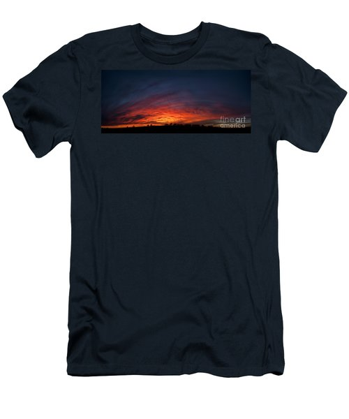 Expansive Sunset Men's T-Shirt (Slim Fit) by Art Whitton