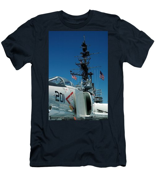 F4-phantom On The Deck Men's T-Shirt (Slim Fit) by Micah May