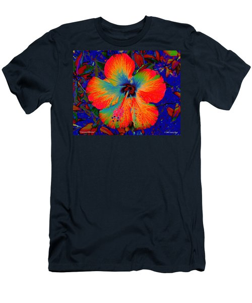 Festonned Hibiscus Men's T-Shirt (Athletic Fit)