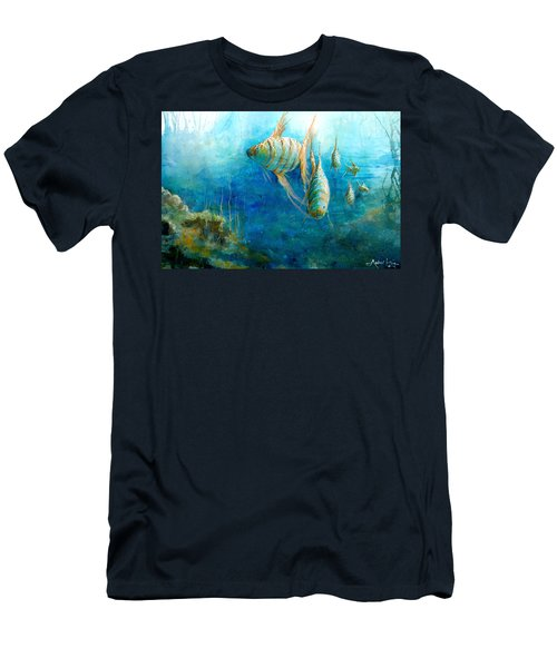 Men's T-Shirt (Athletic Fit) featuring the painting Fish by Andrew King