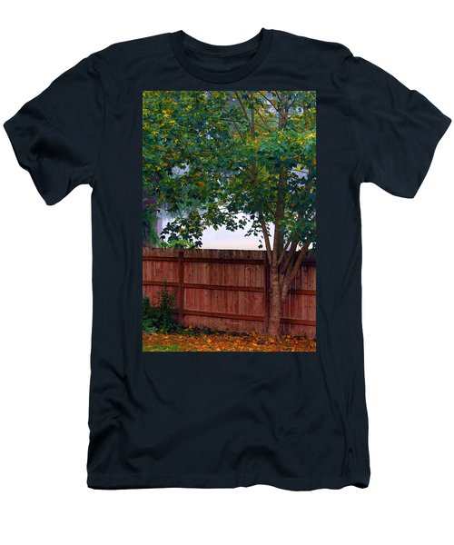 Men's T-Shirt (Slim Fit) featuring the photograph Fog In Olympia by Jeanette C Landstrom