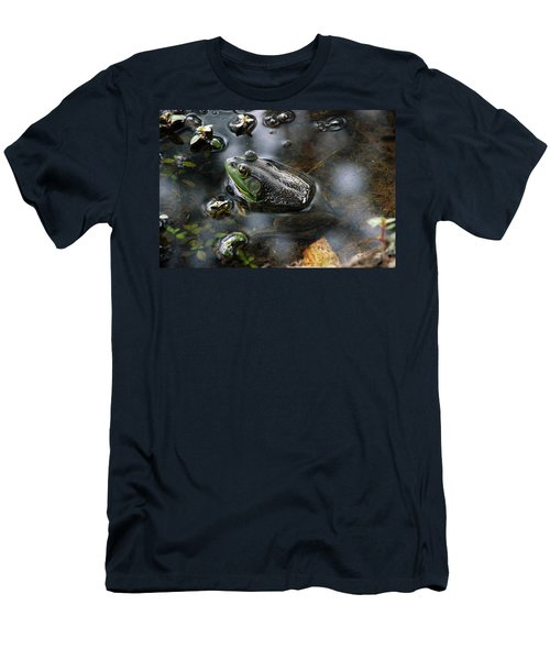 Men's T-Shirt (Slim Fit) featuring the photograph Frog In The Millpond by Kay Lovingood