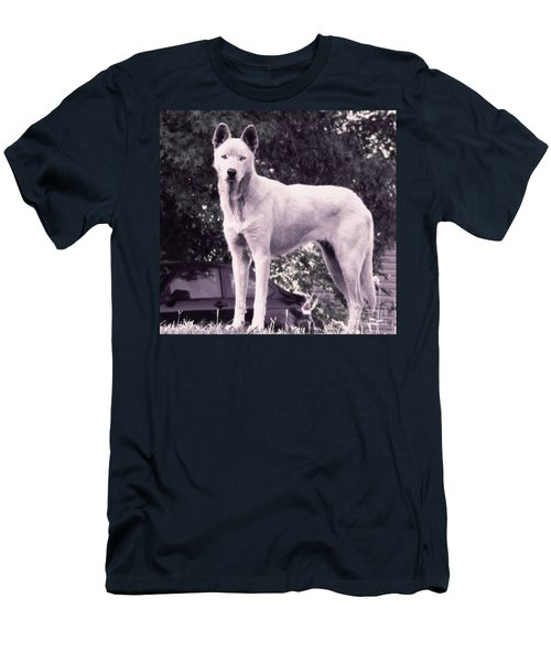 Ghost The Wolf Men's T-Shirt (Slim Fit) by Maria Urso