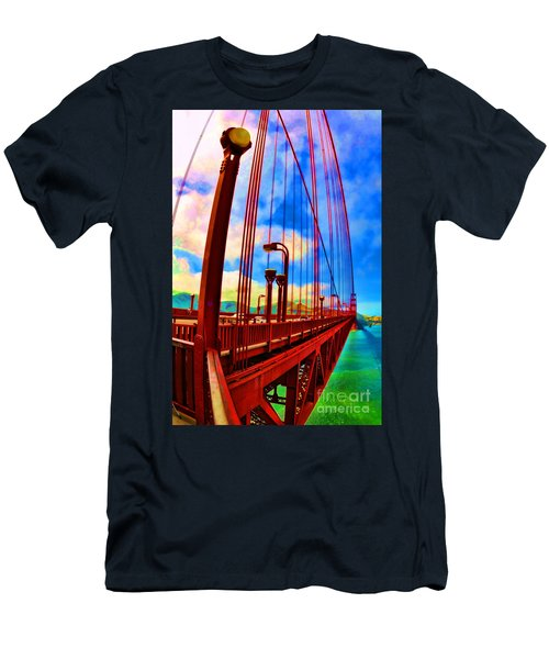 Golden Gate Bridge - 8 Men's T-Shirt (Athletic Fit)