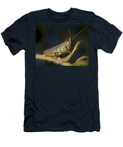 Men's T-Shirt (Slim Fit) featuring the photograph Grasshopper by Art Whitton