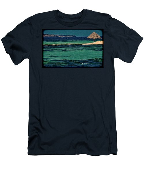 Men's T-Shirt (Slim Fit) featuring the photograph Grenadines Umbrella by Don Schwartz