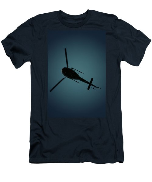 Helicopter Silhouette Men's T-Shirt (Athletic Fit)