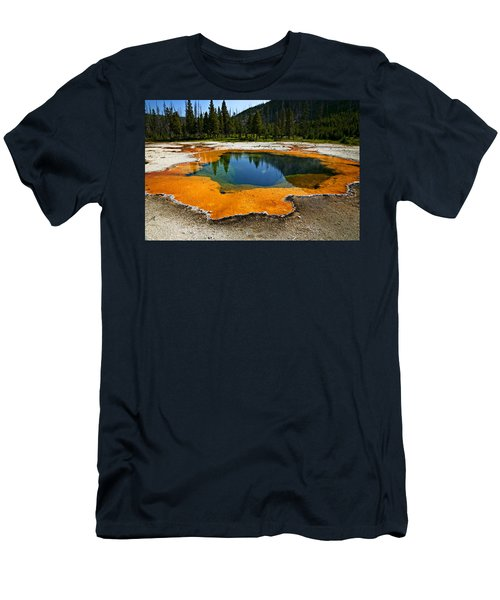 Hot Springs Yellowstone Men's T-Shirt (Athletic Fit)