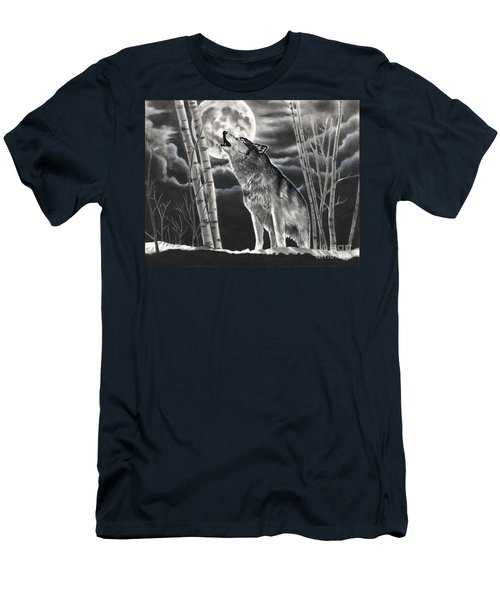 Howling At The Moon Men's T-Shirt (Athletic Fit)