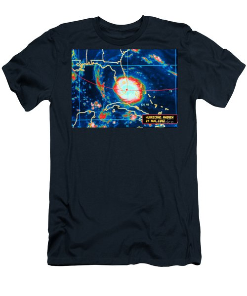 Hurricane Andrew, Infrared Image, 1992 Men's T-Shirt (Athletic Fit)