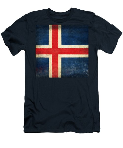 Iceland Flag Men's T-Shirt (Athletic Fit)