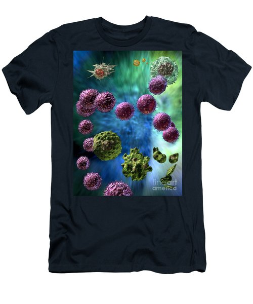 Men's T-Shirt (Slim Fit) featuring the digital art Immune Response Cytotoxic 3 by Russell Kightley