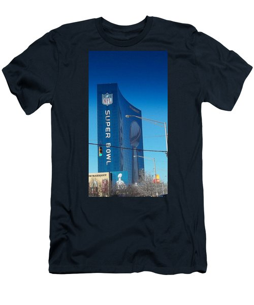 Indianapolis Marriott Welcomes Super Bowl 46 Men's T-Shirt (Athletic Fit)