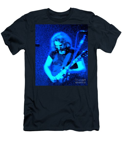 Men's T-Shirt (Slim Fit) featuring the photograph The Man In Blue by Susan Carella