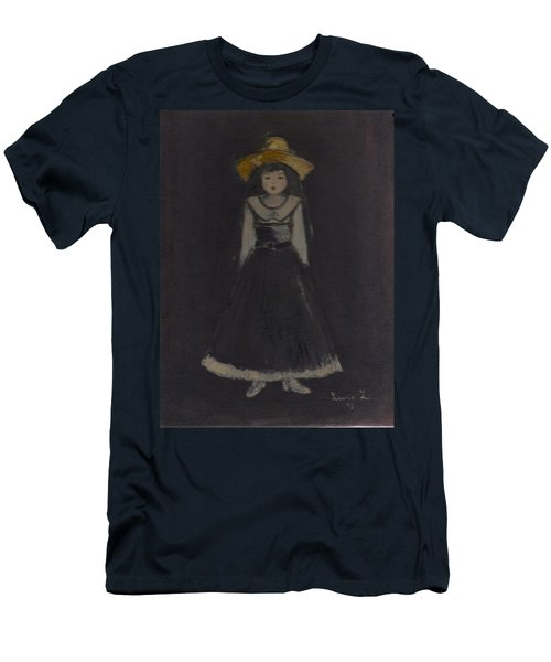 Men's T-Shirt (Athletic Fit) featuring the painting Just A Beautiful Country Girl... by Laurie Lundquist