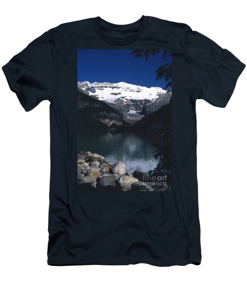 Men's T-Shirt (Slim Fit) featuring the photograph Lake Louise II by Sharon Elliott