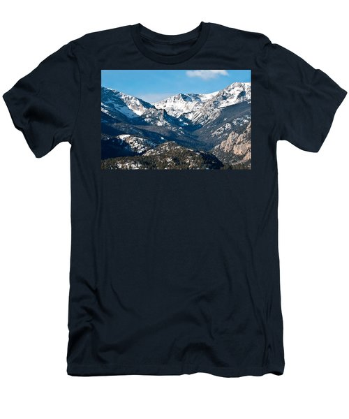 Majestic Rockies Men's T-Shirt (Slim Fit) by Colleen Coccia