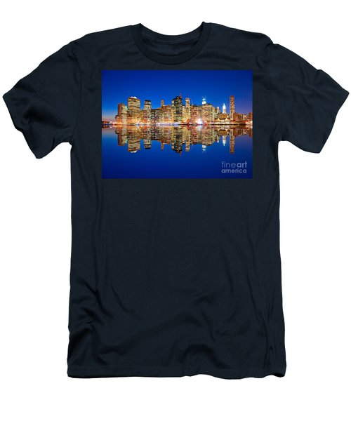 Men's T-Shirt (Slim Fit) featuring the photograph Manhattan by Luciano Mortula