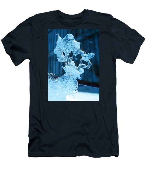 Men's T-Shirt (Slim Fit) featuring the photograph Meet The Ice Sculpture by Steve Taylor