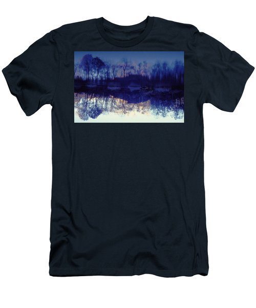 Mirror Pond In The Berkshires Men's T-Shirt (Slim Fit) by Tom Wurl