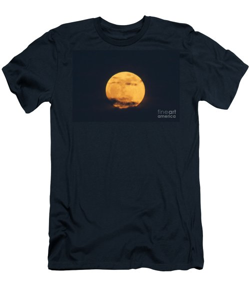 Men's T-Shirt (Slim Fit) featuring the photograph Moon by William Norton