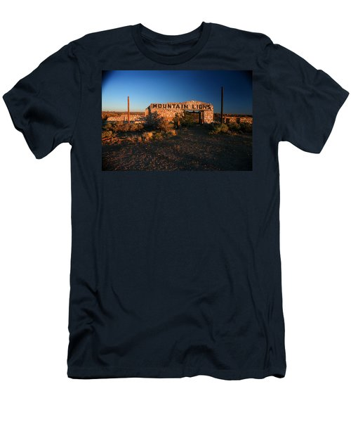 Men's T-Shirt (Slim Fit) featuring the photograph Mountain Lions At Two Guns by Lon Casler Bixby