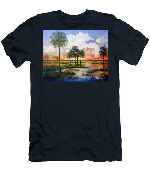 Myakka Sunset Men's T-Shirt (Slim Fit) by Lou Ann Bagnall