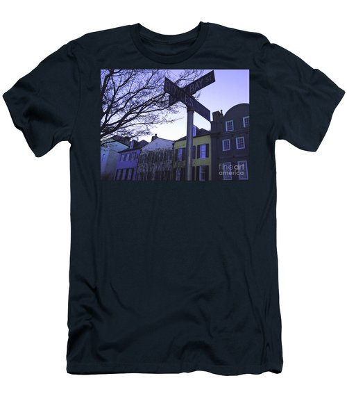 Men's T-Shirt (Slim Fit) featuring the photograph Night In Savannah by Andrea Anderegg