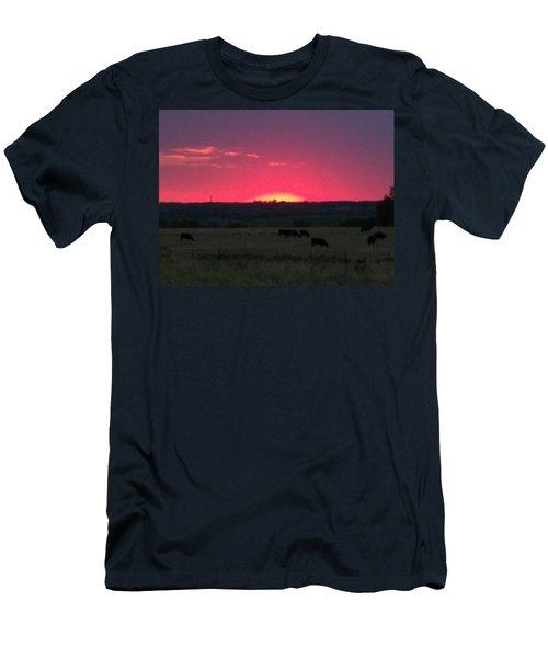 Okie Sunset Men's T-Shirt (Athletic Fit)