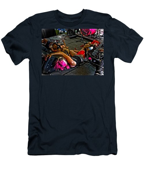 Men's T-Shirt (Slim Fit) featuring the photograph On Stage Literally by Mike Martin