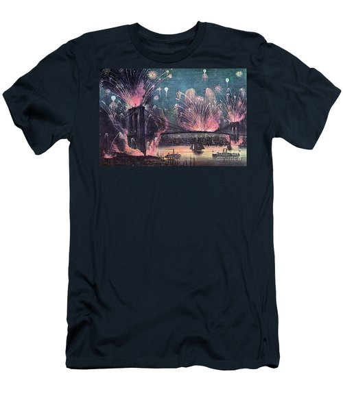Opening Of Brooklyn Bridge Celebration Men's T-Shirt (Athletic Fit)