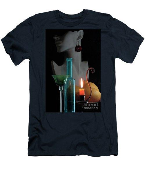 Orange Candle Men's T-Shirt (Athletic Fit)