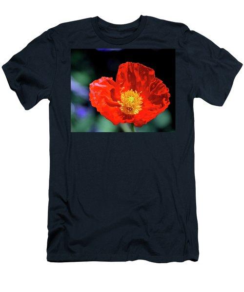 Orange Poppy Men's T-Shirt (Athletic Fit)