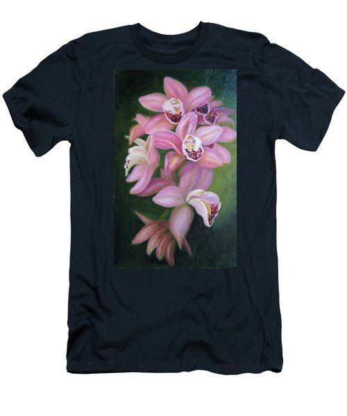 Men's T-Shirt (Slim Fit) featuring the painting Orchids by Marlyn Boyd