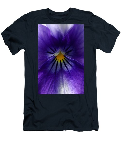 Pansy Abstract Men's T-Shirt (Athletic Fit)