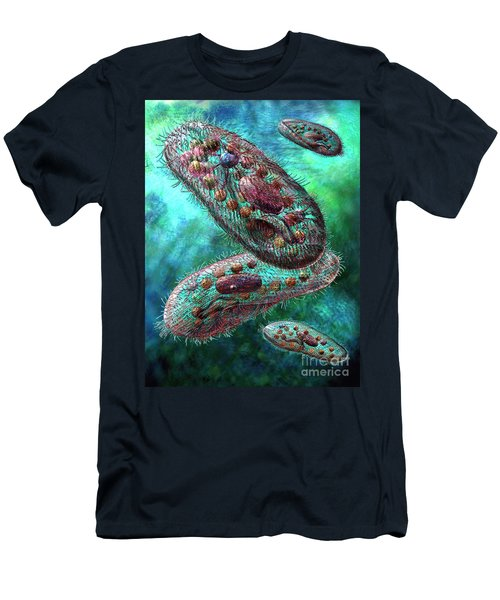 Men's T-Shirt (Slim Fit) featuring the digital art Paramecium by Russell Kightley
