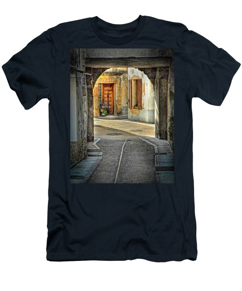 Men's T-Shirt (Slim Fit) featuring the photograph Passageway And Arch In Provence by Dave Mills