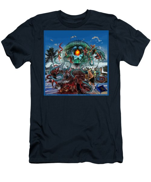Pollution Shall Thank You Men's T-Shirt (Slim Fit) by Tony Koehl