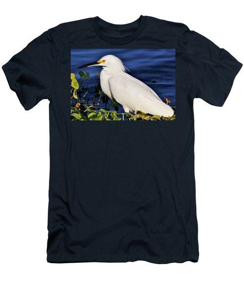 Profile Of A Snowy Egret Men's T-Shirt (Athletic Fit)